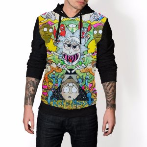 Blusa De Frio Rick e Morty Full Moletom Unissex