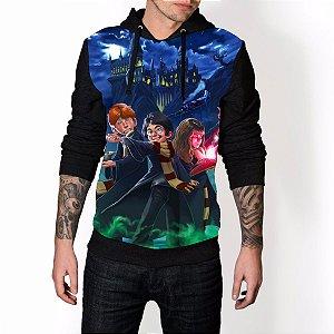 Blusa De Frio Harry Potter Estampa Full Moletom Unissex
