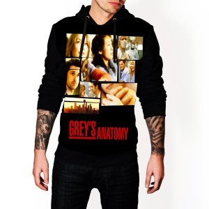 Blusa De Frio Greys Anatomy Serie Estampa Full Moletom Unissex