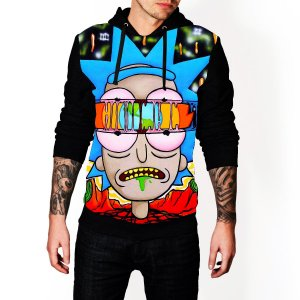 Blusa De Frio Rick e Morty Serie Estampa Full Moletom Unissex