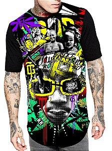 Camiseta Camisa Longline Estampa Full Wiz Khalifa Unissex