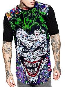 Camiseta Camisa Longline Estampa Full Coringa Unissex