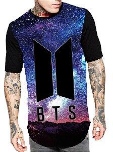 Camiseta Camisa Longline Estampa Full Kpop Bts Unissex