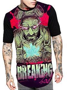 Camiseta Longline Estampa Full Breaking Bad