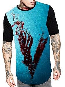 Camiseta Longline Estampa Full Vikings Serie