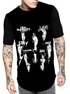 Camiseta Longline Estampa Full Kpop Bts Army