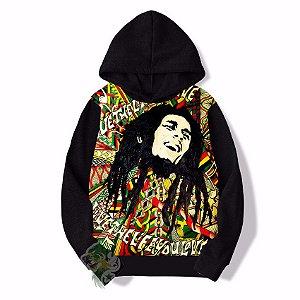 Blusa De Frio Bob Marley Estampa Full Moletom Infantil