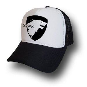 Boné Game Of Thrones Starks Trucker Telinha Aba Curva Bone
