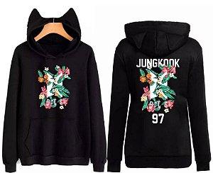 Moletom Casaco Feminino Orelhinha Bts Kpop Jungkook 97 Top!!