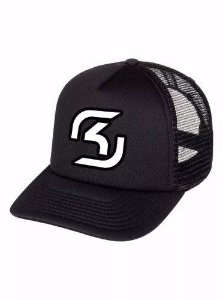 Boné Trucker Cs Go Sk Gaming Game Tela Telinha Aba Curva !!