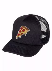 Boné Trucker Aba Curva Pizza Comic Food Feminino Masculino