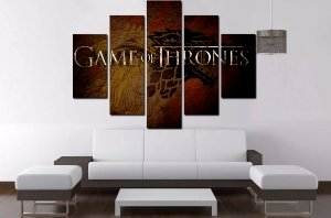 Quadro 5 Game Of Thrones 100cm X 68cm Lux