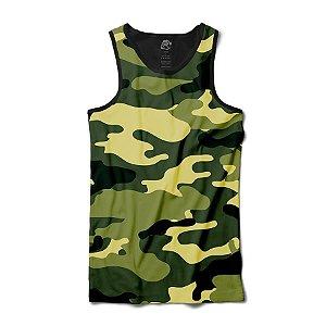 Camiseta  Regata Camo Full Print Preto