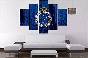 Quadro Mosaico 5 Partes Cruzeiro 100cmx68cm
