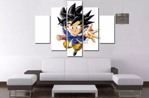 Quadro Mosaico 5 Partes Goku Dragon Ball