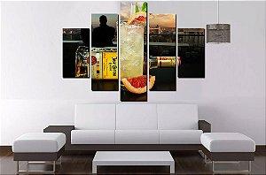 Quadro Mosaico 5 Partes Tequila 100cmx68cm