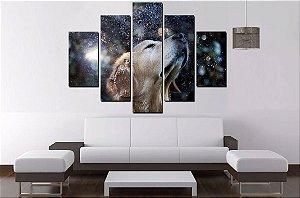 Quadro 5 Partes Cachorro No Espaço