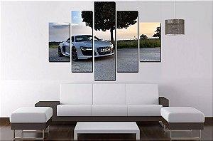 Quadro Mosaico 5 Partes Carro Audi - 100 cm x 68 cm