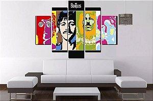 Quadro Mosaico 5 Partes The Beatles - 100 cm x 68 cm