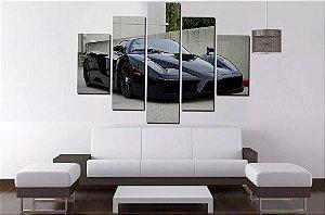 Quadro Mosaico 5 Partes Ferrari - 100 cm x 68 cm