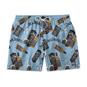 Short Bermuda Ney Moda Praia Mauricinho Bebidas - Whisky JACK DANIELS