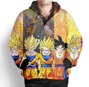 Blusa Moletom Com Capuz Full Dragon Ball Goku