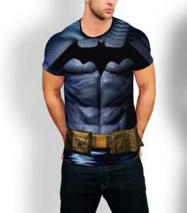 Camiseta Longline Estampa Full Batman