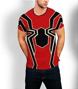 Camiseta Longline Estampa Full Homem-Aranha