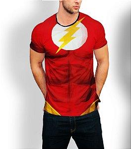 Camiseta Longline Estampa Full Flash