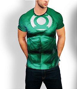 Camiseta Longline Estampa Full Lanterna Verde