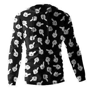 Jaqueta Blusa de Zíper Corta Vento Estampa Full Mickey