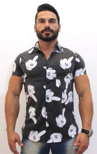Camisa Mickey  Masculina Social Luxo Lançamento