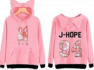 Blusa Moletom Feminino Orelhinha Bts Kpop J-hope 94 Top