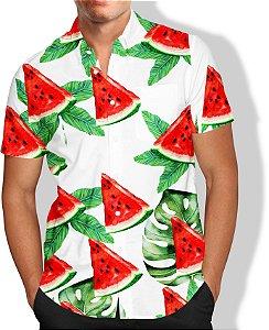 Camisa Melancia Masculina Social Luxo Lançamento