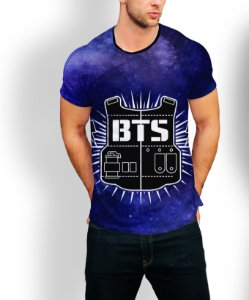 Camiseta Longline Estampa Full BTS