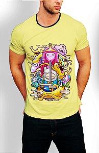 Camiseta Longline Estampa Hora Da Aventura