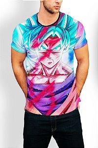 Camiseta Longline Estampa Full Drangon Ball Super
