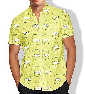 Camisa Bart Simpson Masculina Social Luxo Lançamento