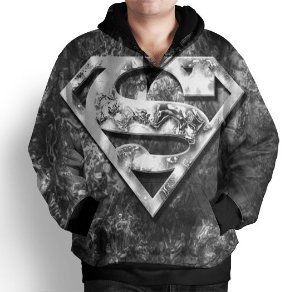 Blusa Moletom Com Capuz Estampa Superman