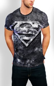Camiseta Longline Estampa Full Superman
