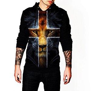 Blusa De Frio Estampa Leão Jesus Full Moletom Unissex