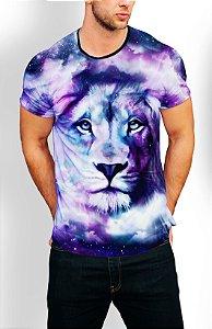 Camiseta Longline Estampa Full Leão