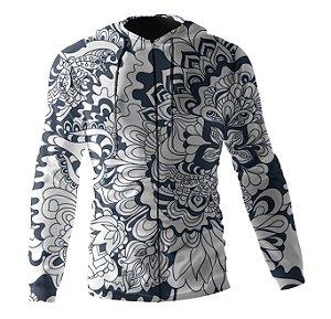 Jaqueta Blusa de Zíper Corta Vento Estampa Full Floral