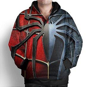 Blusa Moletom Com Capuz Estampa Homem Aranha