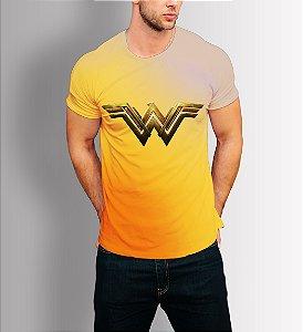 Camiseta Longline Estampa Full Mulher Maravilha