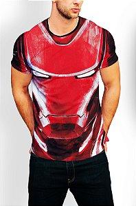 Camiseta Longline Estampa Full Homem De Ferro