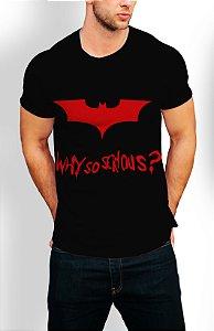 Camiseta Longline Estampa Full Why So Serious?