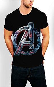 Camiseta Longline Estampa Full Vingadores Ultimato