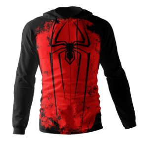 Jaqueta Blusa de Zíper Corta Vento Estampa Full Homem Aranha