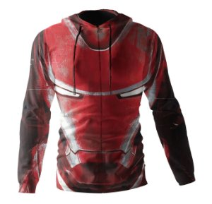 Jaqueta Blusa de Zíper Corta Vento Estampa Full Homem De Ferro
